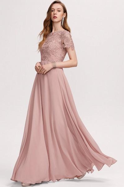 A-Line Scoop Neck Floor-Length Chiffon Evening Dress_5
