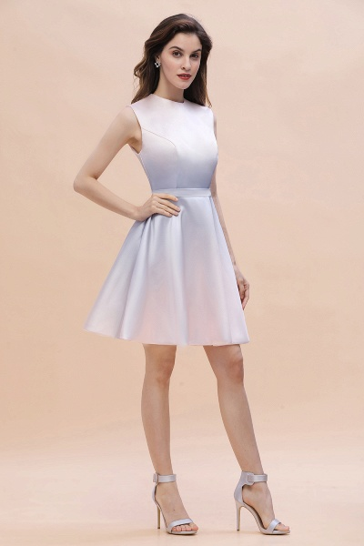 Elegant Gradient A-line Daily Casual Sleeveless Evening Party Dress_5