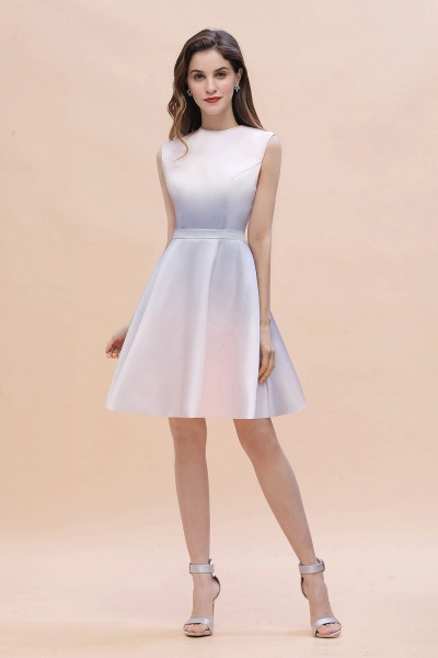 Elegant Gradient A-line Daily Casual Sleeveless Evening Party Dress_2