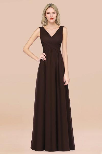 A-Line Chiffon Straps V-Neck Sleeveless Floor-Length Bridesmaid Dress with Ruffles_11
