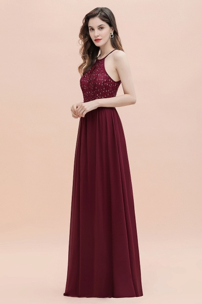 Halter Sequins A-line Chiffon Evening Dress_14