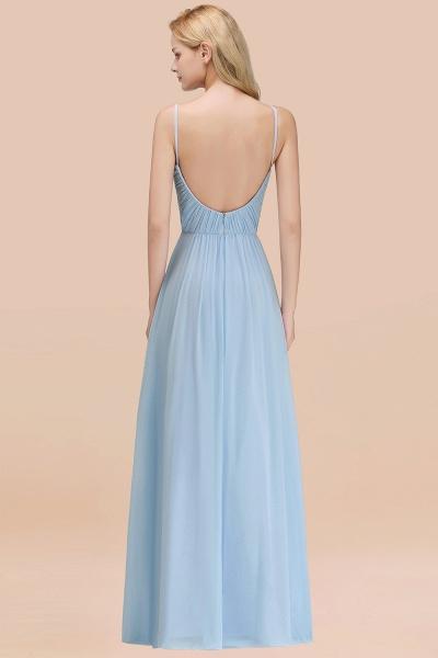 A-Line Chiffon V-Neck Spaghetti Straps Floor-Length Bridesmaid Dresses_52
