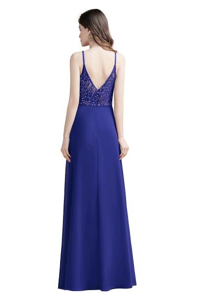 Elegant Straps V-Neck Chiffon Evening Formal Dress_13