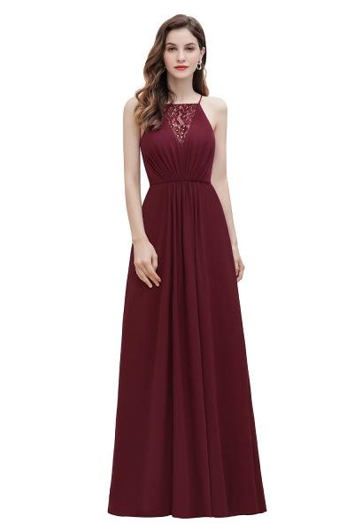 Straps Bateau A-line Sequins Chiffon Evening Prom Dress_1