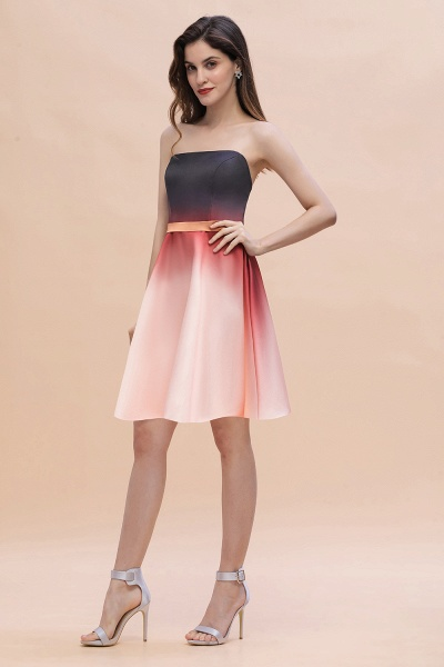 Sleeveless Sweetheart Gradient Satin Evening Prom Dress_4