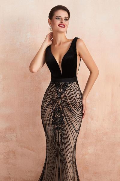BM1991 Spaghetti Strap Sequins Mermaid Long Evening Dress_4