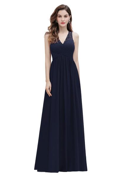 V-Neck A-line Chiffon Sleeveless Evening Maxi Dress_3