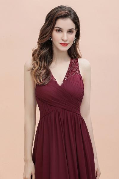 V-Neck A-line Chiffon Sleeveless Evening Maxi Dress_10