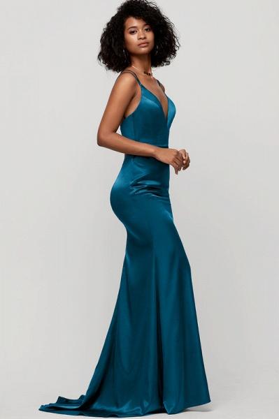 Trumpet/Mermaid V-neck Sweep Train silk like satin Evening Dress_3