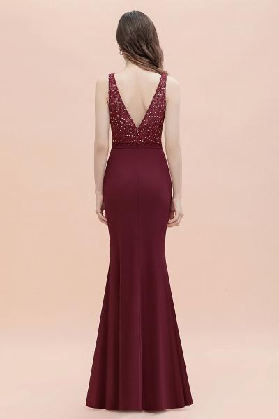 V-Neck Mermaid Evening Dress Sequins Chiffon Slim Party Dress_5