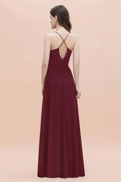 Straps Bateau A-line Sequins Chiffon Evening Prom Dress_5