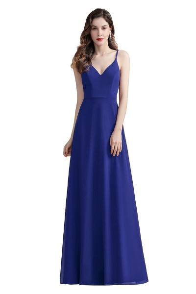 Elegant Straps V-Neck Chiffon Evening Formal Dress_2