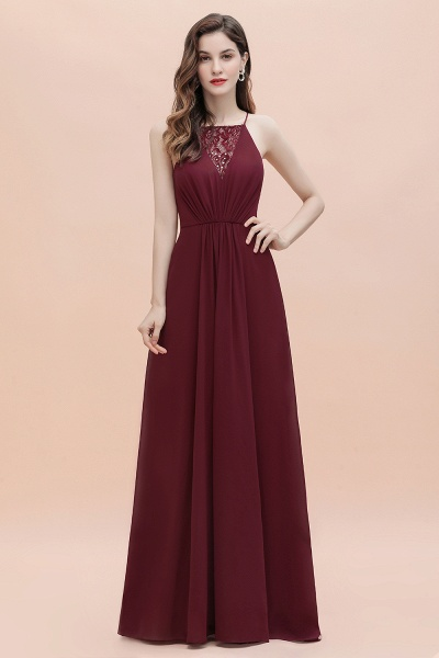 Straps Bateau A-line Sequins Chiffon Evening Prom Dress_8