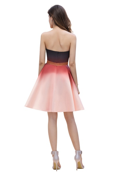 Sleeveless Sweetheart Gradient Satin Evening Prom Dress_3