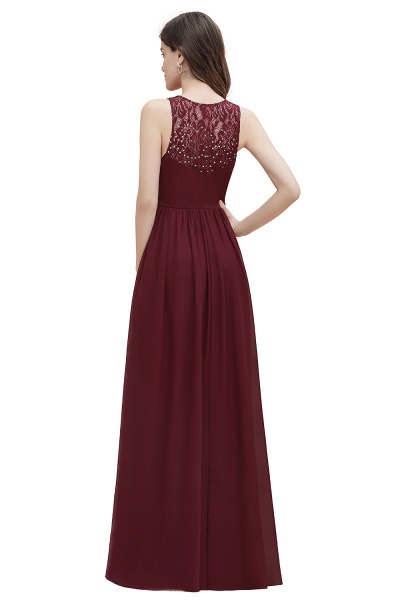 V-Neck A-line Chiffon Sleeveless Evening Maxi Dress_17