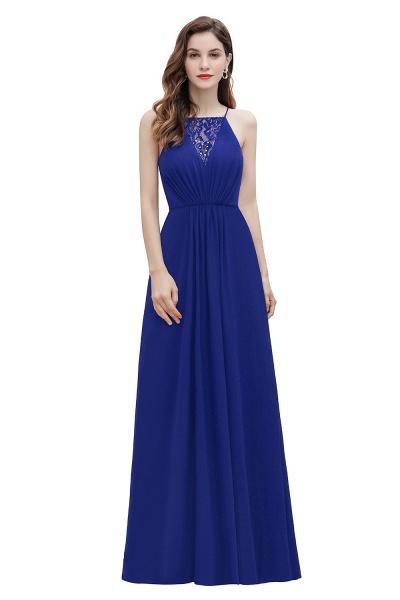 Straps Bateau A-line Sequins Chiffon Evening Prom Dress_2