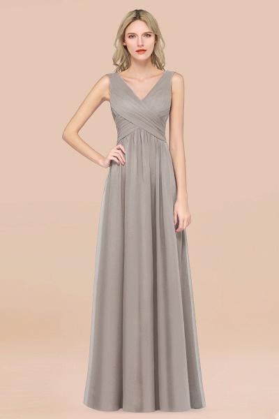 A-Line Chiffon Straps V-Neck Sleeveless Floor-Length Bridesmaid Dress with Ruffles_30