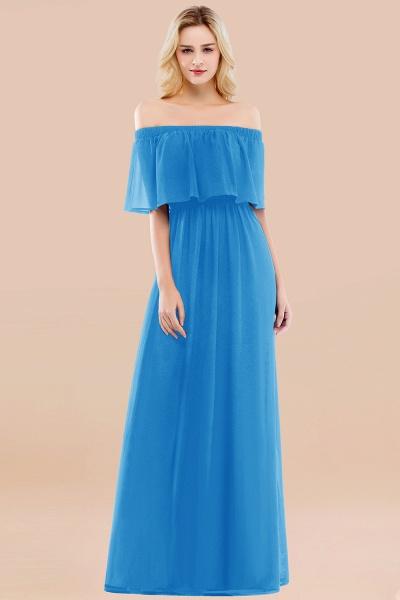 A-line Chiffon Off-the-Shoulder Short-Sleeves Ruffles Floor-length Bridesmaid Dress_25
