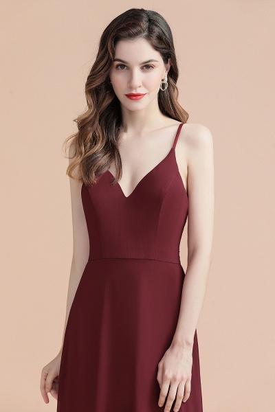 Elegant Straps V-Neck Chiffon Evening Formal Dress_14