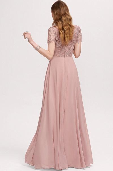 A-Line Scoop Neck Floor-Length Chiffon Evening Dress_2