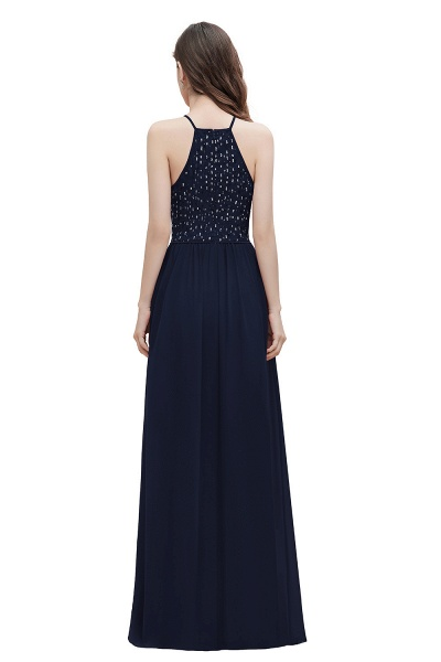 Halter Sequins A-line Chiffon Evening Dress_3