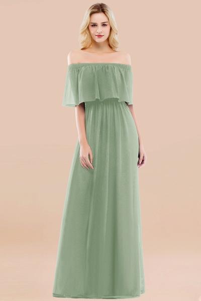 A-line Chiffon Off-the-Shoulder Short-Sleeves Ruffles Floor-length Bridesmaid Dress_41