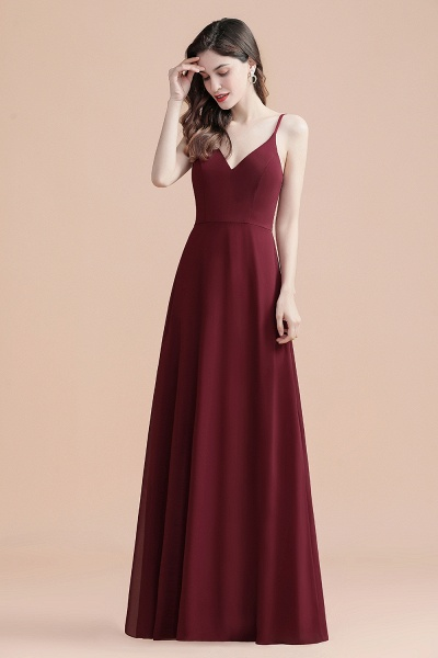 Elegant Straps V-Neck Chiffon Evening Formal Dress_4