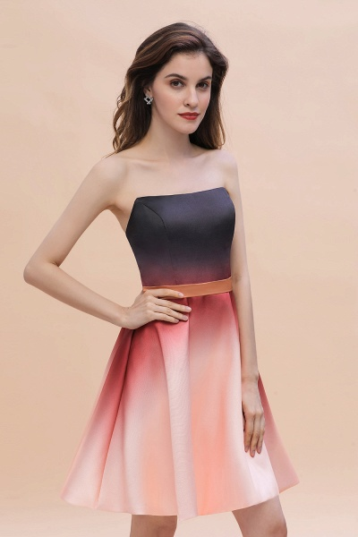 Sleeveless Sweetheart Gradient Satin Evening Prom Dress_5