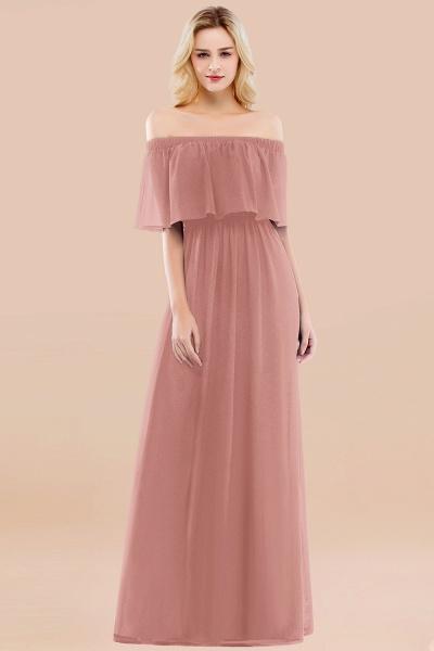 A-line Chiffon Off-the-Shoulder Short-Sleeves Ruffles Floor-length Bridesmaid Dress_50