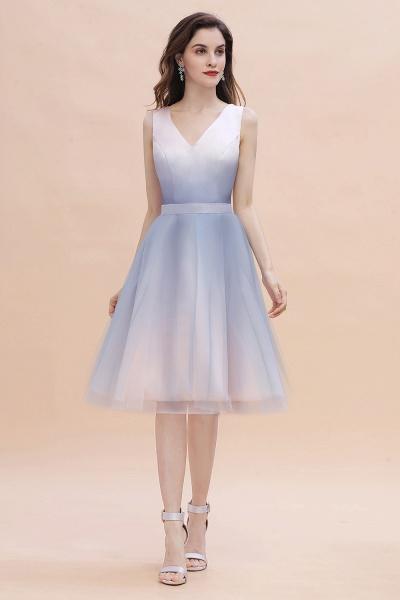 Elegant V-Neck Gradient A-line Mini Homecoming Dress_2