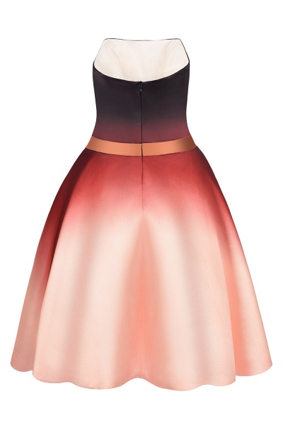 Sleeveless Sweetheart Gradient Satin Evening Prom Dress_8