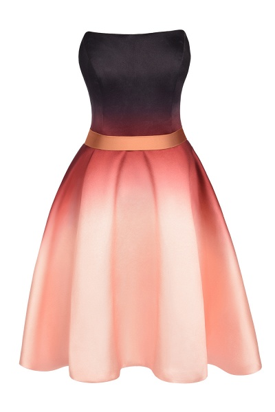 Sleeveless Sweetheart Gradient Satin Evening Prom Dress_7
