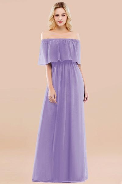 A-line Chiffon Off-the-Shoulder Short-Sleeves Ruffles Floor-length Bridesmaid Dress_21