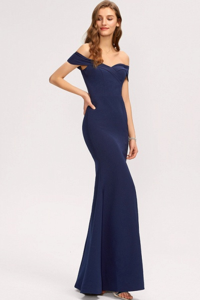 Trumpet/Mermaid Off-the-Shoulder Floor-Length Stretch Crepe Evening Dress With Split Front_4
