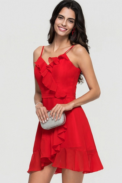 A-Line Asymmetrical Chiffon Homecoming Dress With Cascading Ruffles_1