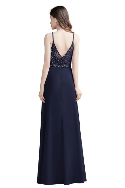 Elegant Straps V-Neck Chiffon Evening Formal Dress_11