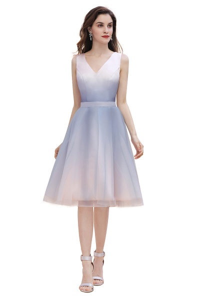 Elegant V-Neck Gradient A-line Mini Homecoming Dress_7