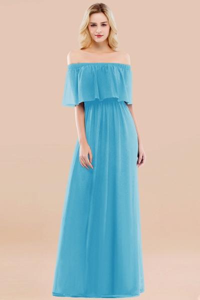 A-line Chiffon Off-the-Shoulder Short-Sleeves Ruffles Floor-length Bridesmaid Dress_24