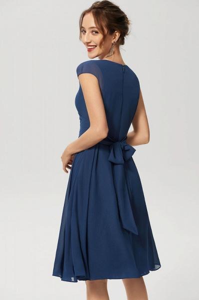 Simple A-Line Knee-Length Chiffon Cocktail Dress With Ruffle_4