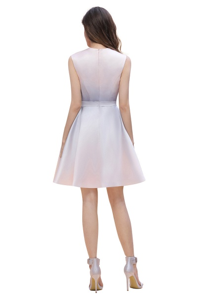 Elegant Gradient A-line Daily Casual Sleeveless Evening Party Dress_7