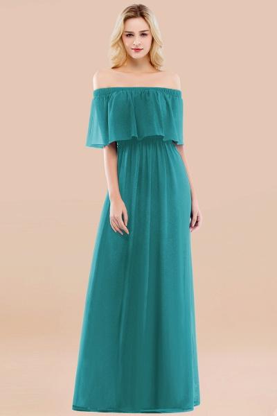 A-line Chiffon Off-the-Shoulder Short-Sleeves Ruffles Floor-length Bridesmaid Dress_32