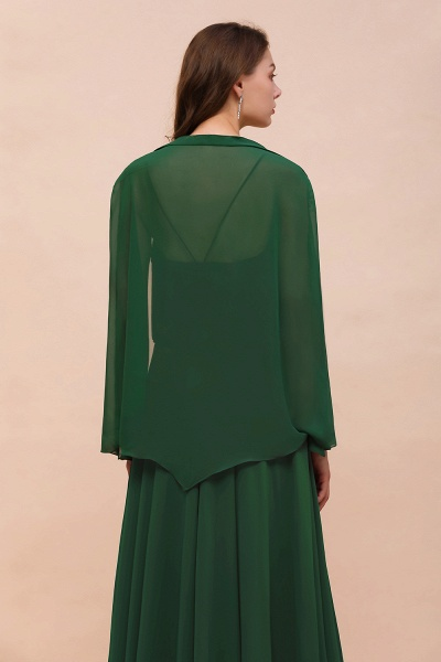 BM1893 Dark Green Long Sleeve Chiffon Special Occasion Wraps_3