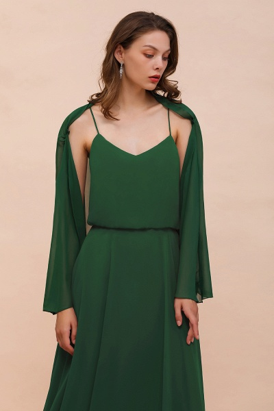 BM1893 Dark Green Long Sleeve Chiffon Special Occasion Wraps_7