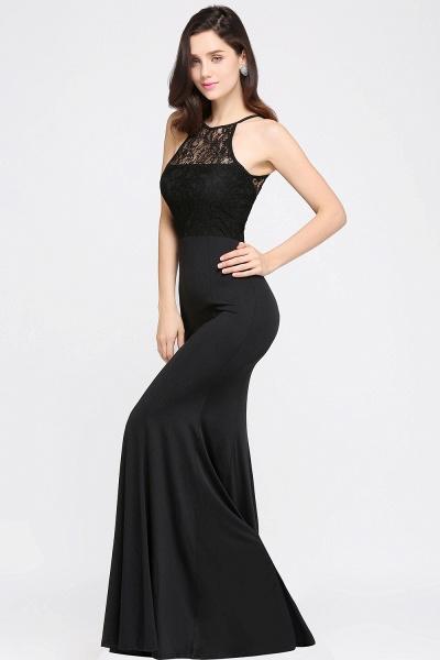 Sexy Mermaid Chiffon Lace Jewel Sleeveless Keyhole Floor-Length Bridesmaid Dress_3
