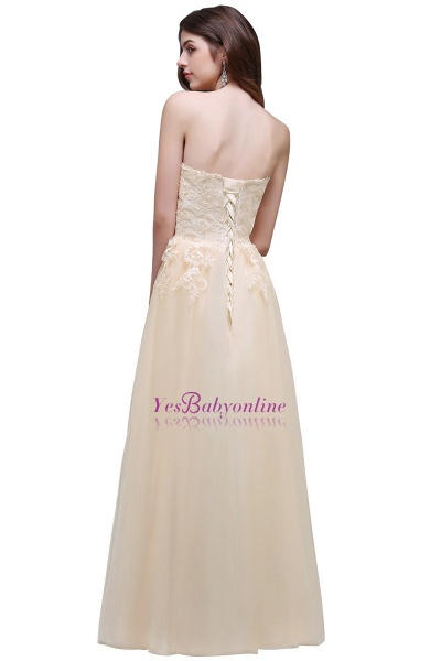 Aline Floor Length Tulle Prom Dress With Appliques_3