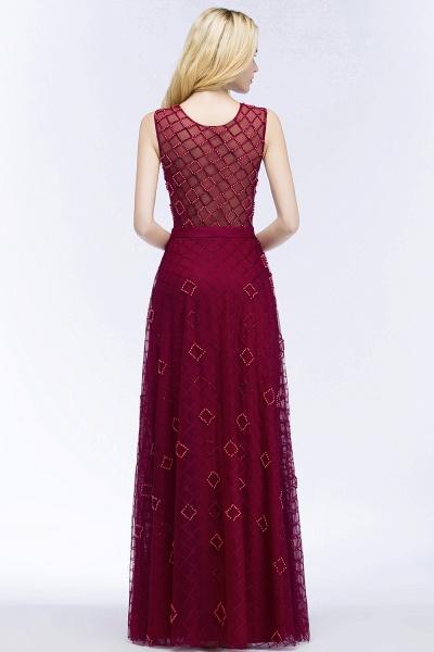 Beading A-Line Scoop Sleeveless Long Evening Dress_6