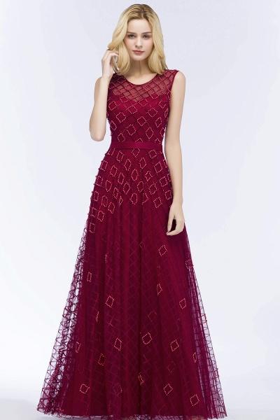 Beading A-Line Scoop Sleeveless Long Evening Dress_4