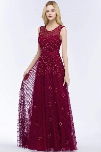 Beading A-Line Scoop Sleeveless Long Evening Dress_3
