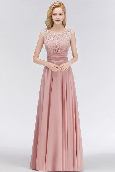 A-line Lace Top Sleeveless Chiffon Floor Length Bridesmaid Dress_7