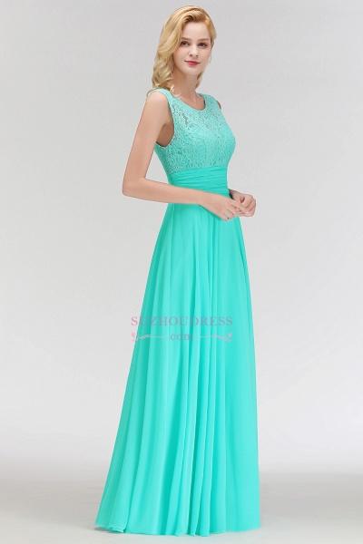A-line Lace Top Sleeveless Chiffon Floor Length Bridesmaid Dress_3